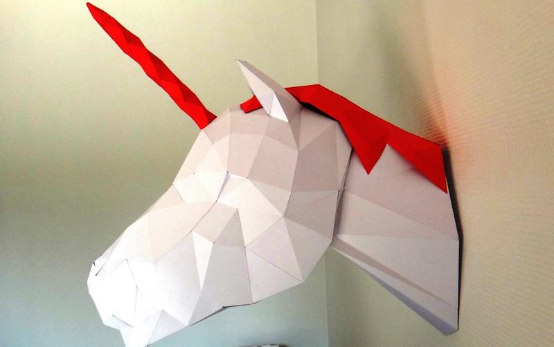 trophée tête de licorne