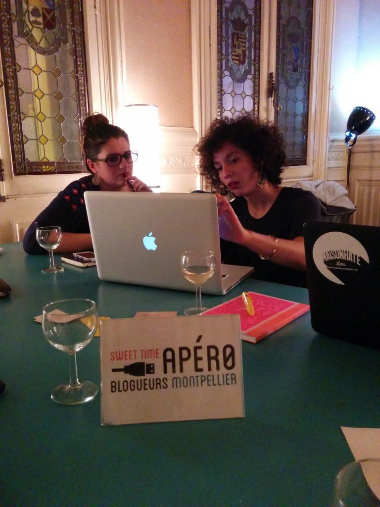 Atelier vidéo pour les blogueurs de l'Apéro Blogueurs Montpellier - Sellah et Céline -